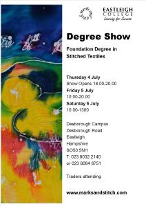 2013 degree show poster revised